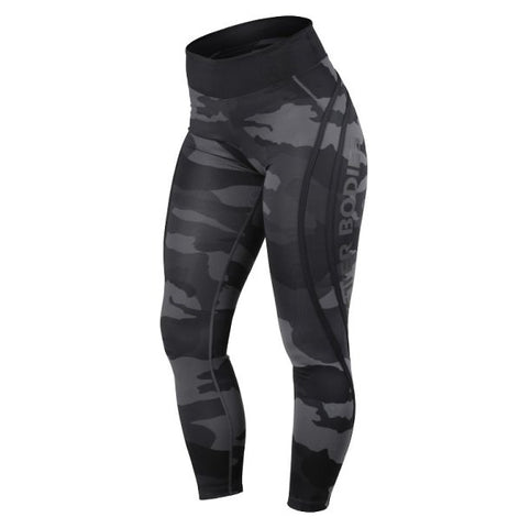 Better Bodies Camo High Tights - Dark Camo - FitStyle.no