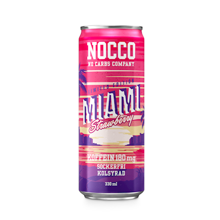 NOCCO BCAA Miami Strawberry Limited Edition 330ml