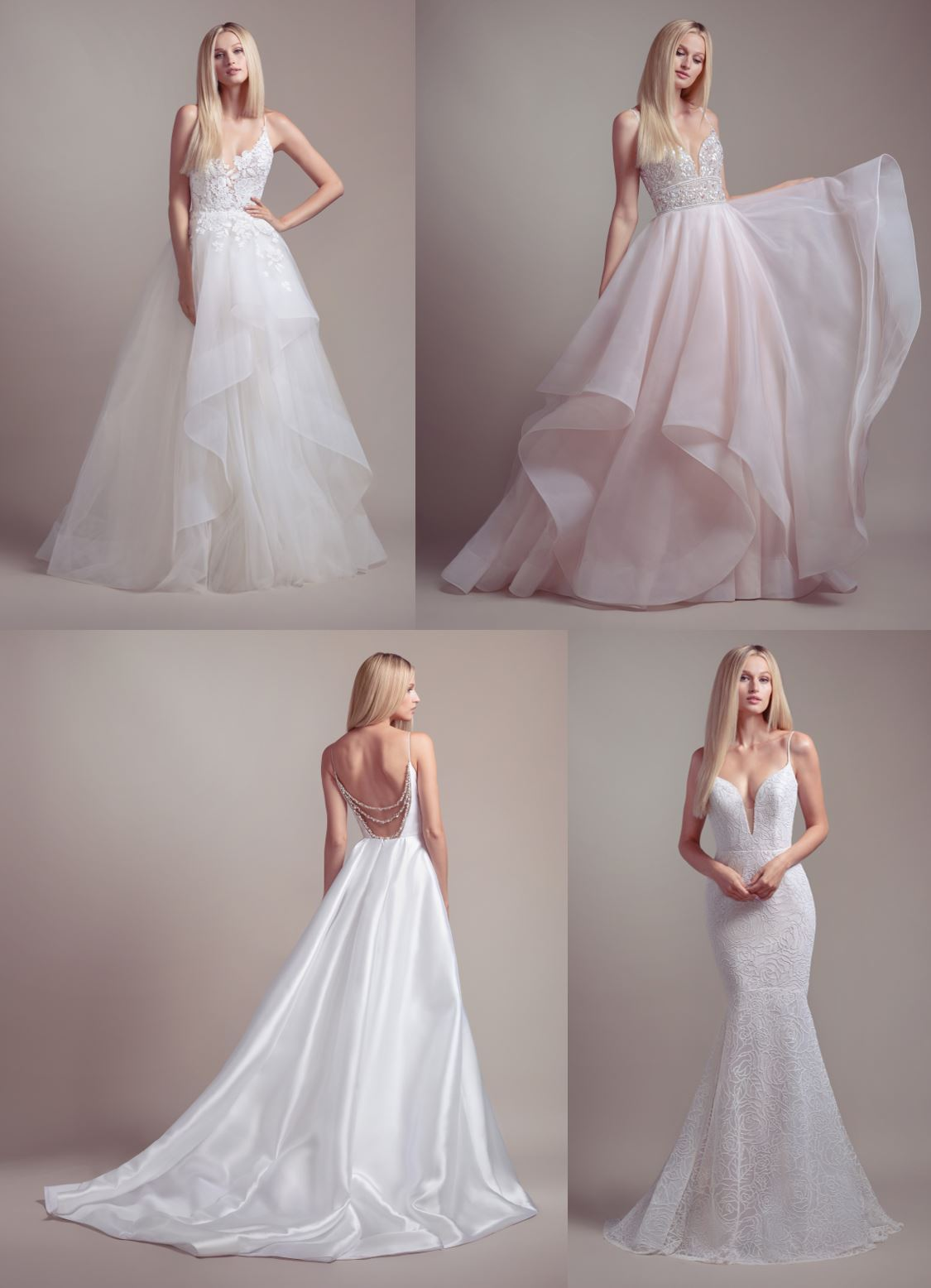Blush by Hayley Paige Bridal Trunk Show from July 12th to 13th at Lotus Bridal Long Island, NY - Wedding Dresses Include Clover, Fawn, Soleil, Vanna, Finch, Jameson