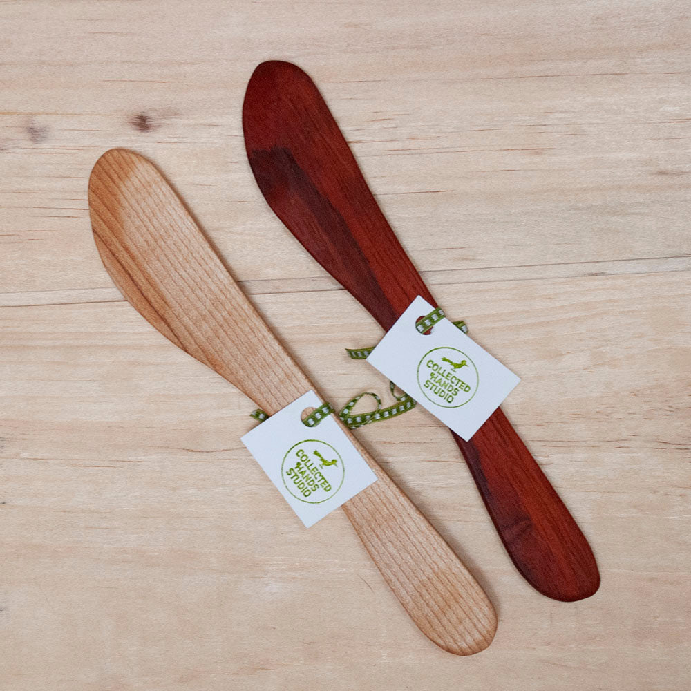 Handcrafted Wood Jam Spreaders - Maple and Bloodwood