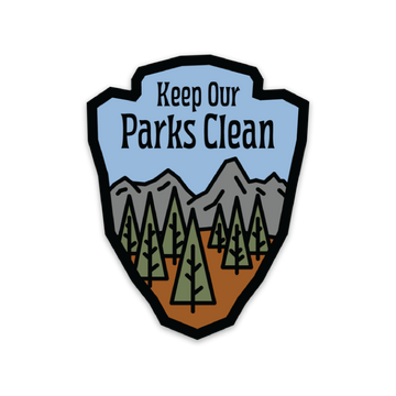 Keep Our Parks Clean [Sticker] - CoLab. Print