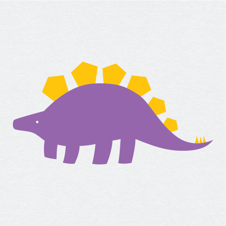 Earnest the Stegosaurus [Youth/Glow] - CoLab. Print