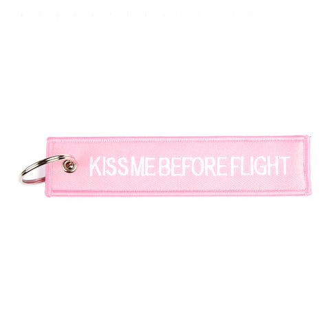 Porta-chaves Kiss me Remove before flight
