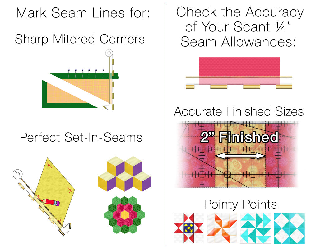 The Prep-Tool by Guidelines4Quilting: Perfect Seams for Quilting