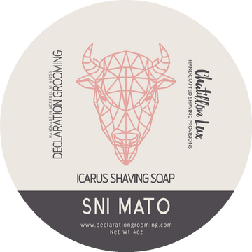 Sni Mato Shaving Soap - Icarus Base - 4oz - Valentine's Day Limited Edition