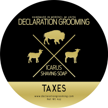 Taxes Shaving Soap - Icarus