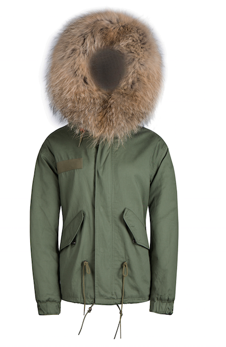 Kids Faux Fur Collar Parka Jacket with Natural Faux Fur -  - 1