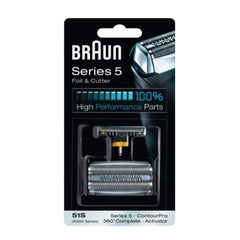 BRAUN 51S 8000 Series Activato 5 Mens Shaver CASSETTE Foil and Cutter Combi Pack