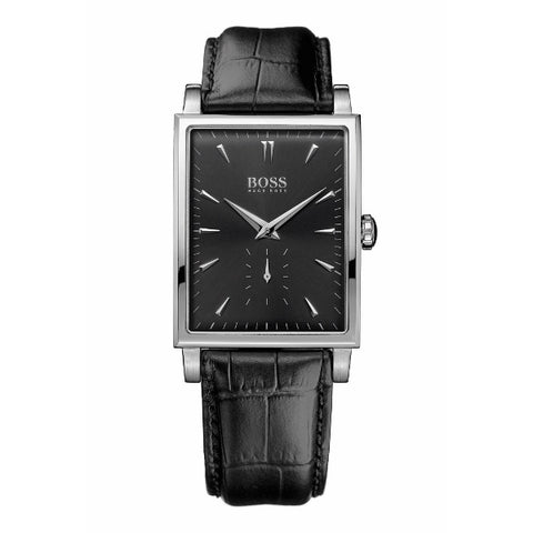 Hugo Boss Mens Rectangular Black Dial Watch 1512784