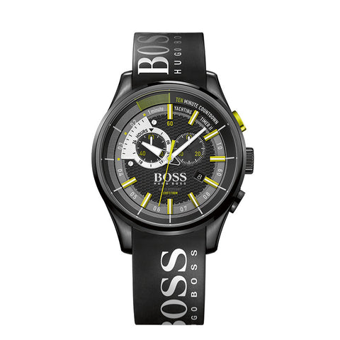 HUGO BOSS RUBBER STRAP YACHTING WATCH - 1513337