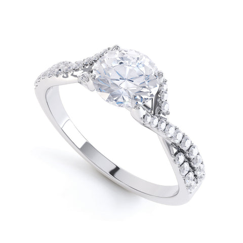 DANIELLE - 438005M-Diamond Engagement Ring-Design Centre Jewellery