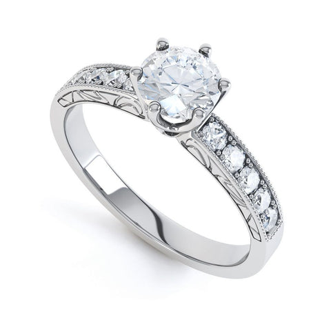 SAMMIE - DCJ001M-Diamond Engagement Ring-Design Centre Jewellery