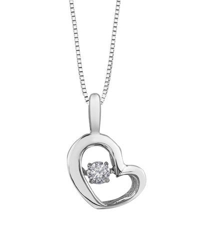 PULSE DIAMOND PENDANT-3113WG-Pendants-Design Centre Jewellery