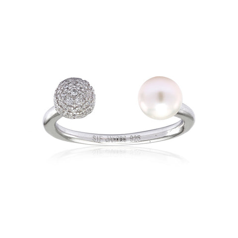 BOBBIO DUE PEARL RING BY SIF JAKOBS-Design Centre Jewellery