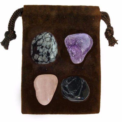ENERGY KIT Crystal Healing Set - NEGATIVE ENERGY - Crystal Rock Emporium
