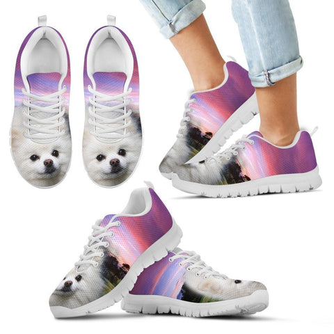 Pomeranian Dog Running Shoes For Kids-3D Print-Free Shipping