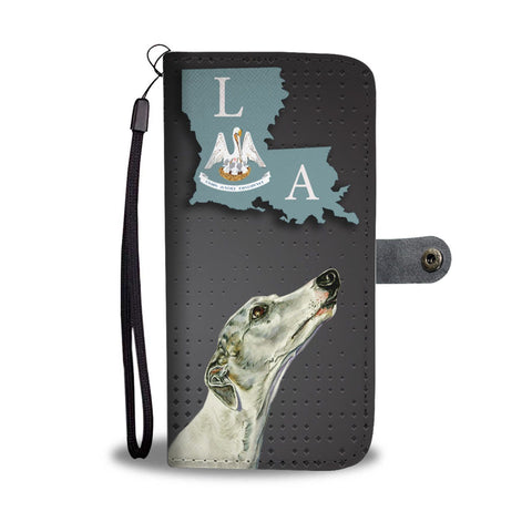 Whippet Dog Print Wallet Case-Free Shipping-LA State