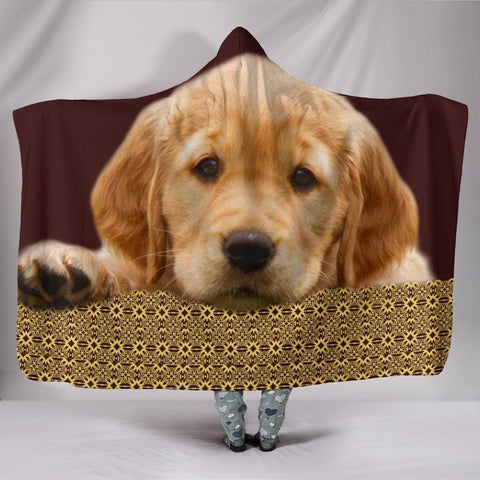 Golden Retriever Print Hooded Blanket-Free Shipping