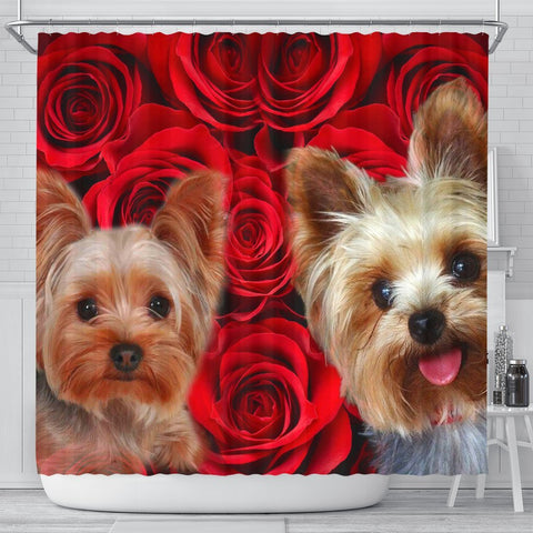 Yorkshire Terrier Print Shower Curtains-Free Shipping