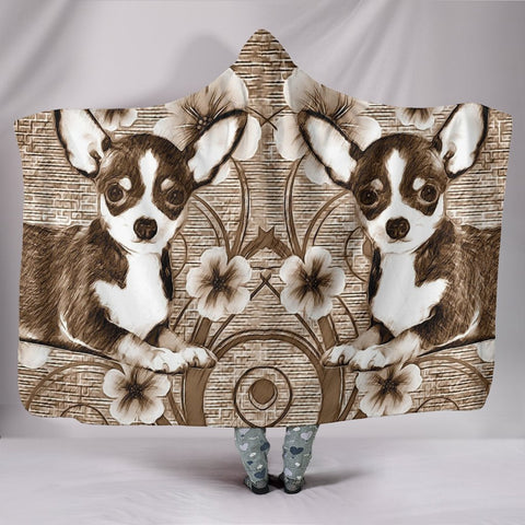 Cute Chihuahua Print Hooded Blanket-Free Shipping