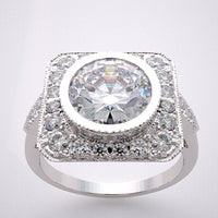 Antique Style Ring Setting Diamond Accented Frame