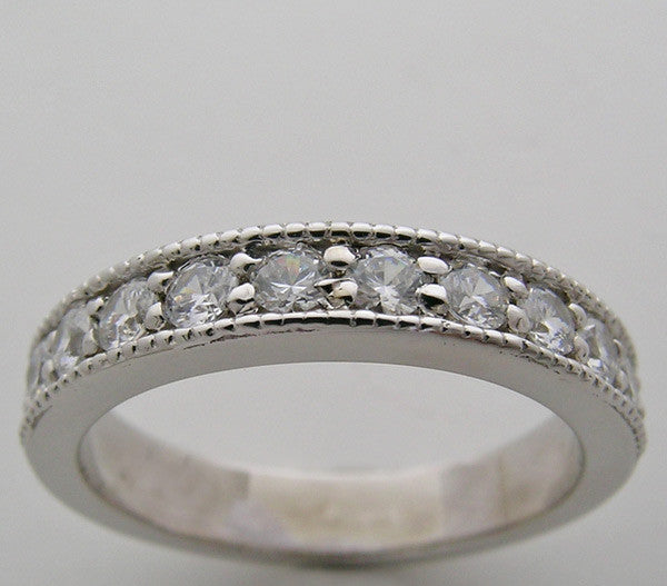 GOLD ETERNITY ANNIVERSARY DIAMOND WEDDING BAND