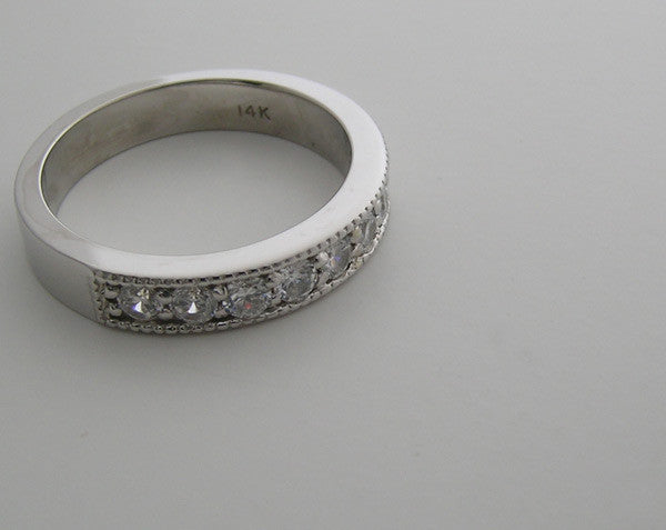 14K GOLD DIAMOND WEDDING BAND ANNIVERSARY RING