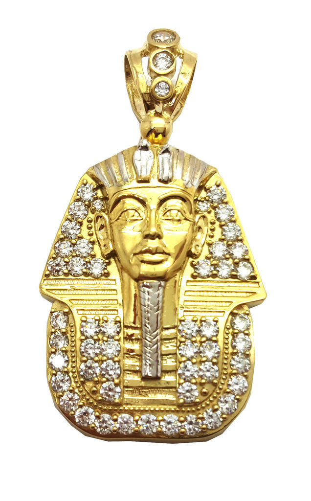 Pharoah Akhenaten 10K Yellow Gold 13.5 Gr Men Pendant