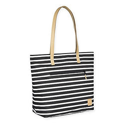 Striped Black & White Diaper Tote Bag