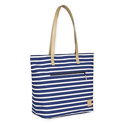 Striped Navy & White Diaper Tote Bag