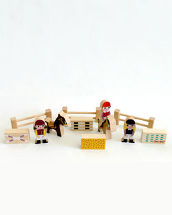 Mini Story Wooden Toy Kit - Riding School