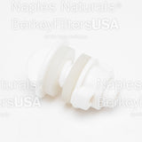 Berkey Water Filter White Poly Blocking Plug (1 item only)- For Berkey Water Filtration System filtering fluoride, lead, arsenic, and sediment - BerkeyFiltersUSA