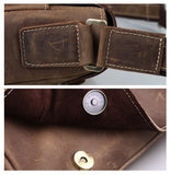 Minimal Espresso Leather Journal Messenger Bag - Gritty Rustic Leather Co.