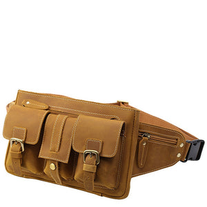 Tobacco Leather Outdoors Waist Pack