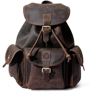 Classic Espresso American Leather Backpack - Gritty Rustic Leather Co.
