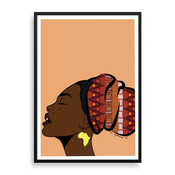 basking in the light framed print by black artist nyanza d