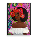 flower child framed print by black-british rahana banana