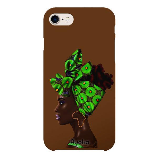 Green Headwrap iPhone case by Kaizeea