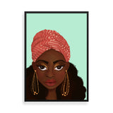nubian diva black art framed print by Fefus Designs