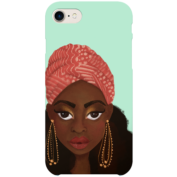 nubian diva iphone case by fefus designs