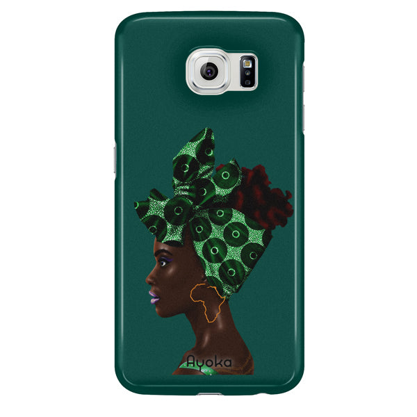 Teal Headwrap Samsung case by Kaizeea