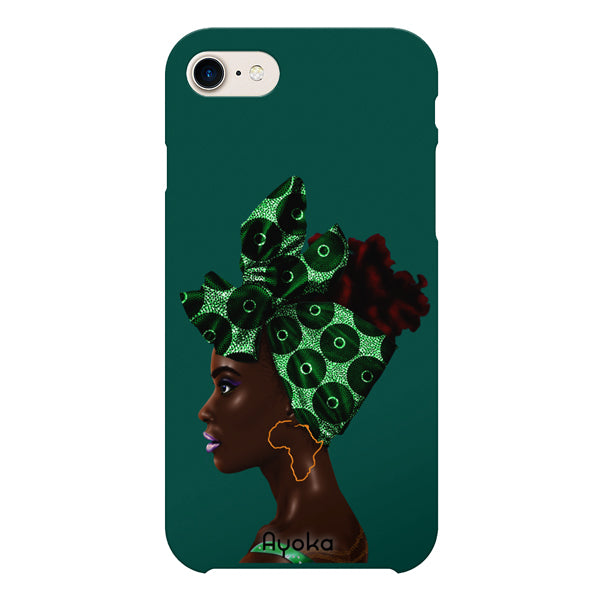 Teal Headwrap iPhone case by Kaizeea