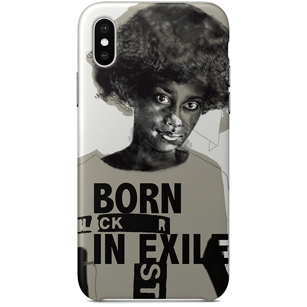 Born in Exile iPhone X Case by Diana Ejaita