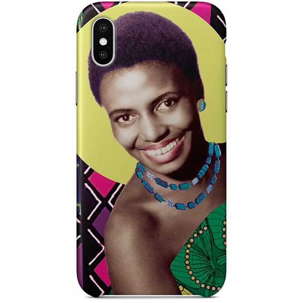 mama africa iPhone x case by black-british artist natasha lisa