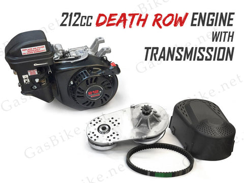 212cc Death Row Engine with Transmission - 4-Stroke 80CC Gas Motorized Bicycle