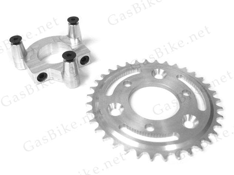 36 Tooth CNC Sprocket & Adapter Assembly 80CC Gas Motorized Bicycle