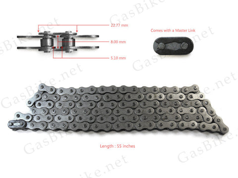 #415 Heavy Duty Bike Chain 80CC Gas Motorized Bicycle