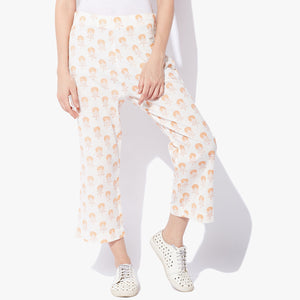 Handblock Print Flex Straight Pants - Indian Dobby