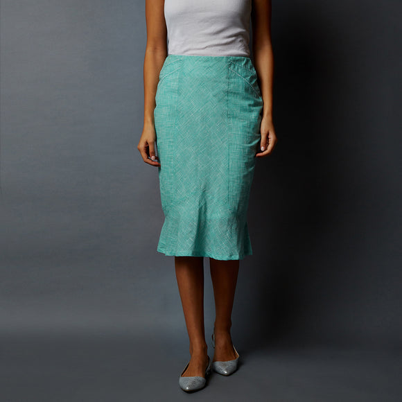 Paneled Peplum Skirt