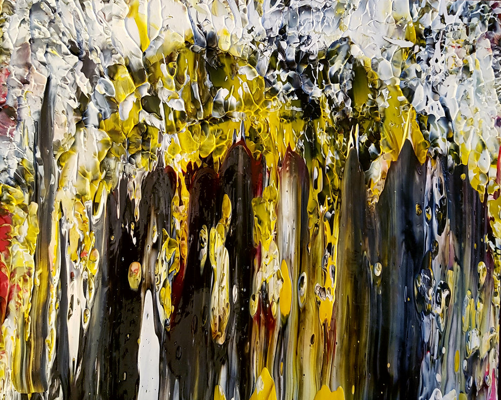 Redwood Forest in Abstract Original Painting